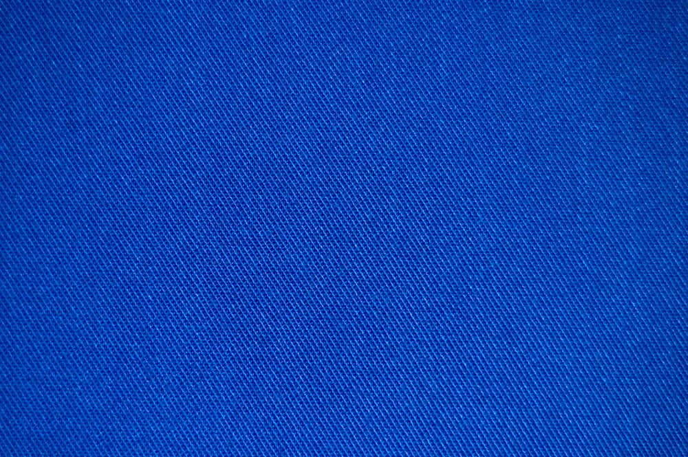 This is a close look at a blue denim brushed cotton.