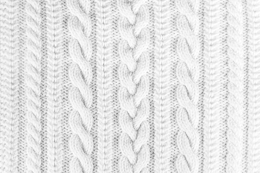 This is a close look at a white cotton Knitted Fabric.