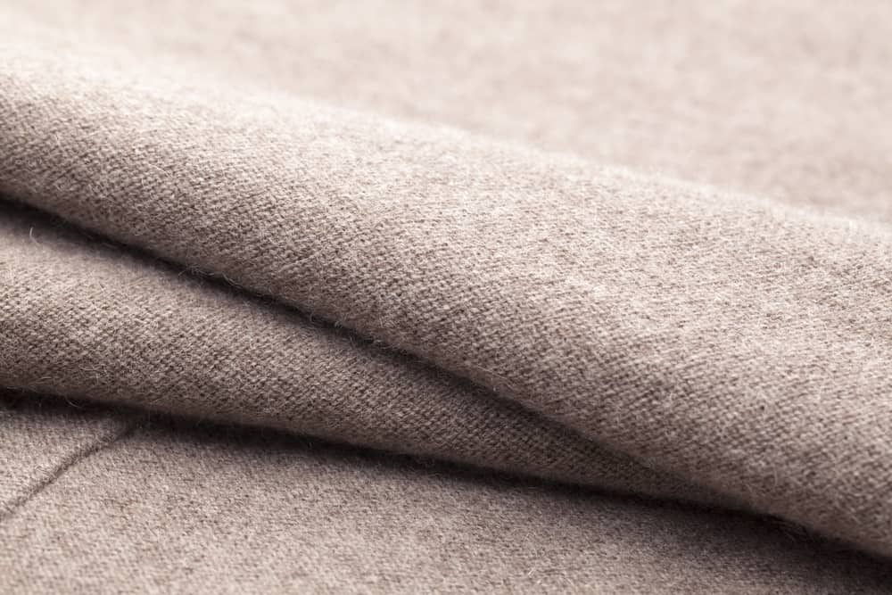 This is a close look at a brown Wool fabric.