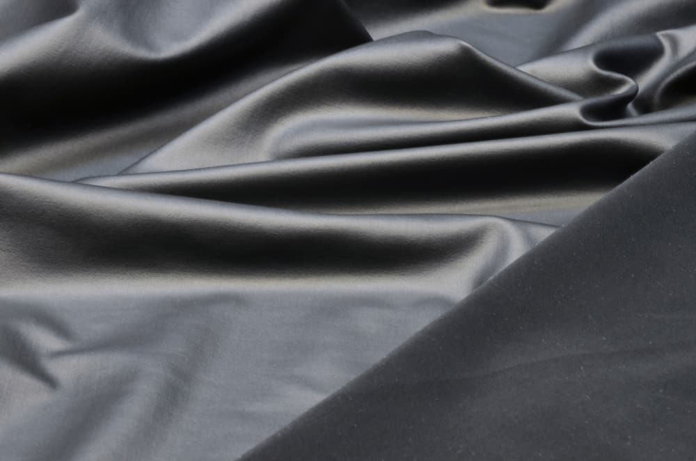 This is a close look at a gray Polyamide Elastane fabric.