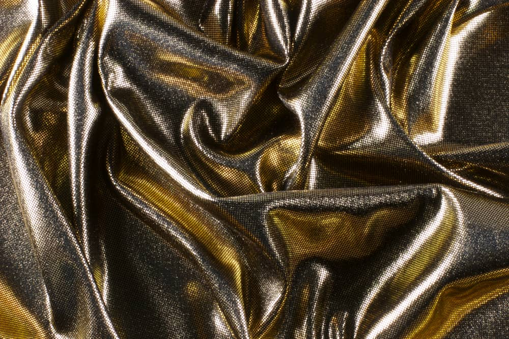 This is a close look at a golden Lame fabric.