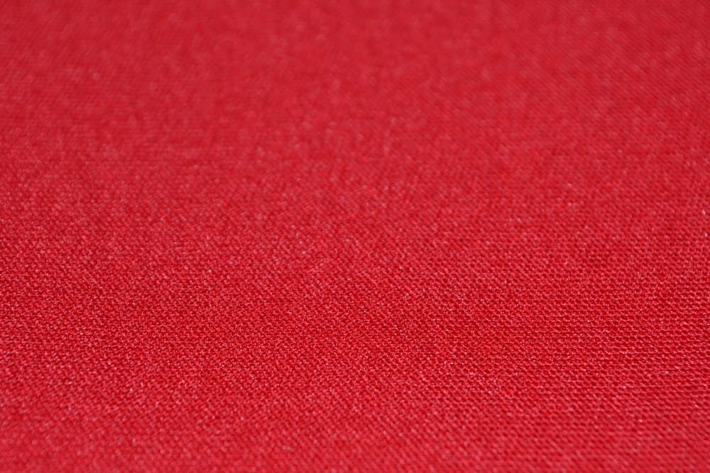 This is a close look at a bright red Neoprene fabric.