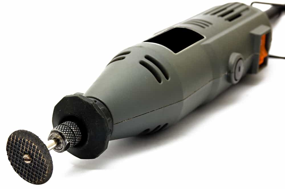 This is a close look at a power tool rotary tool.