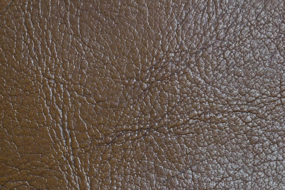 This is a close look at a brown Buffalo Leather fabric.