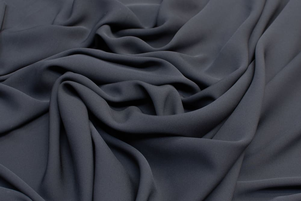 This is a close look at a graphite colored rayon fabric.