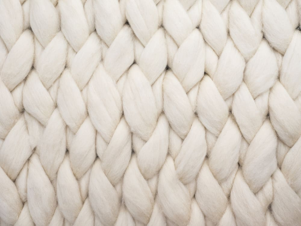 This is a close look at a woven Merino Wool fabric.
