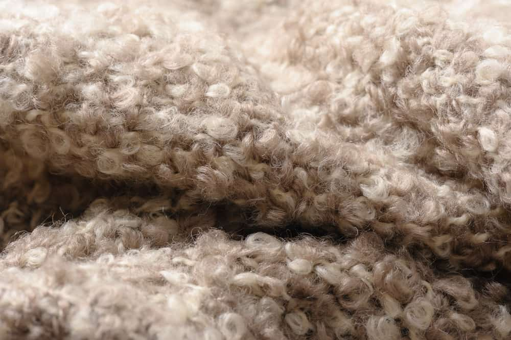 This is a close look at some genuine Mohair Wool fabric.