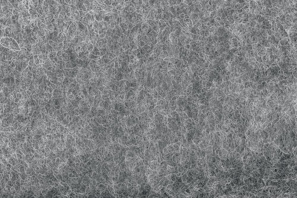 This is a close look at a gray Felted Wool fabric.