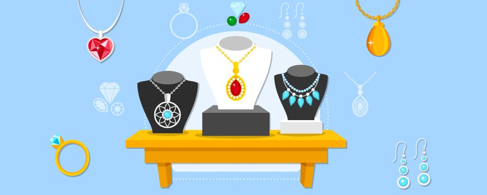 Set of accessories from necklace to rings and earings