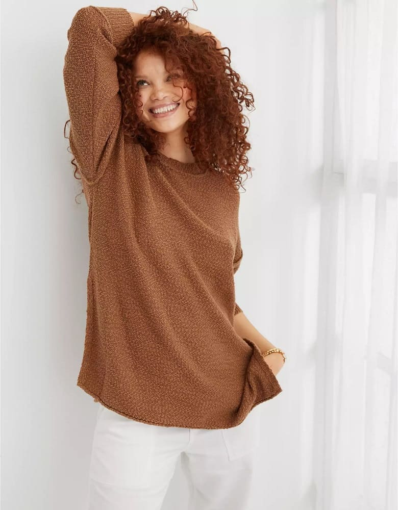 The Aerie Deconstructed Crew Sweater from American Eagle.