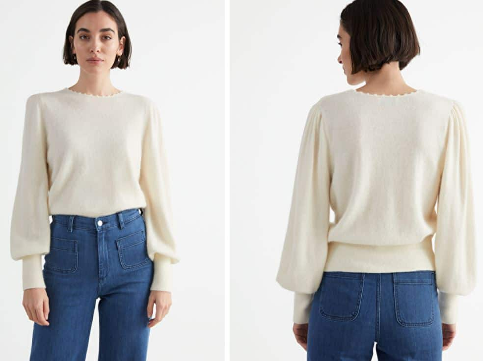 The Relaxed Alpaca Blend Bobble Neck Sweater from & Other Stories.