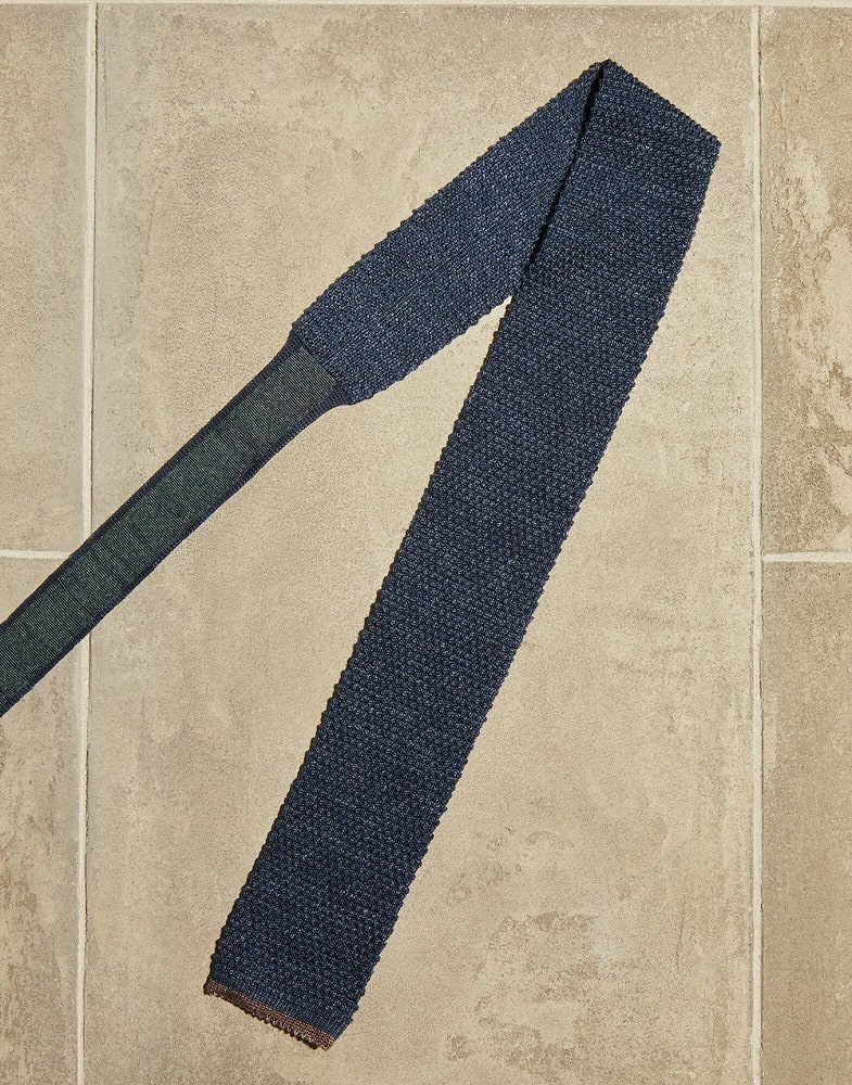 The Cotton and Linen Knit Tie from Brunello Cucinelli.
