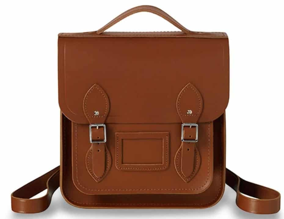 The brown leather vintage satchel from The Cambridge Satchel Company.