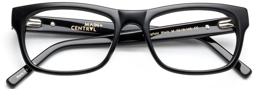 The Main and Central Springfield black glasses from Coastal.
