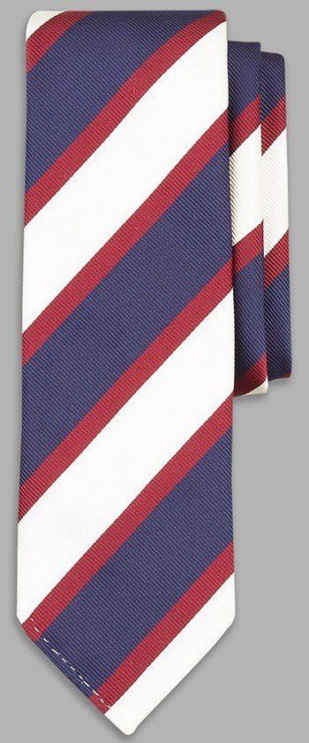 The Navy Blue, White and Red Broad tie from Drake's Haberdasher.