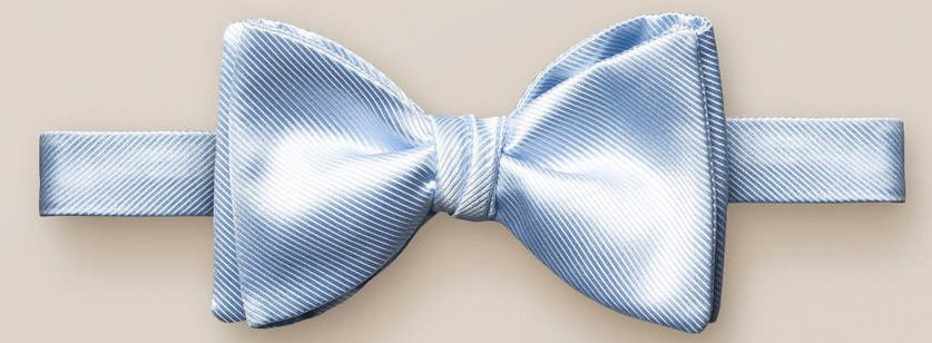 The Blue bow tie – self tied from Eton.