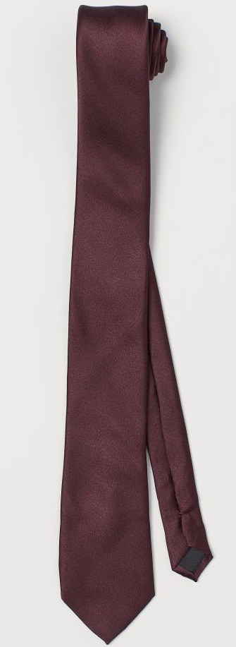 The Burgundy Satin Tie from H&M.