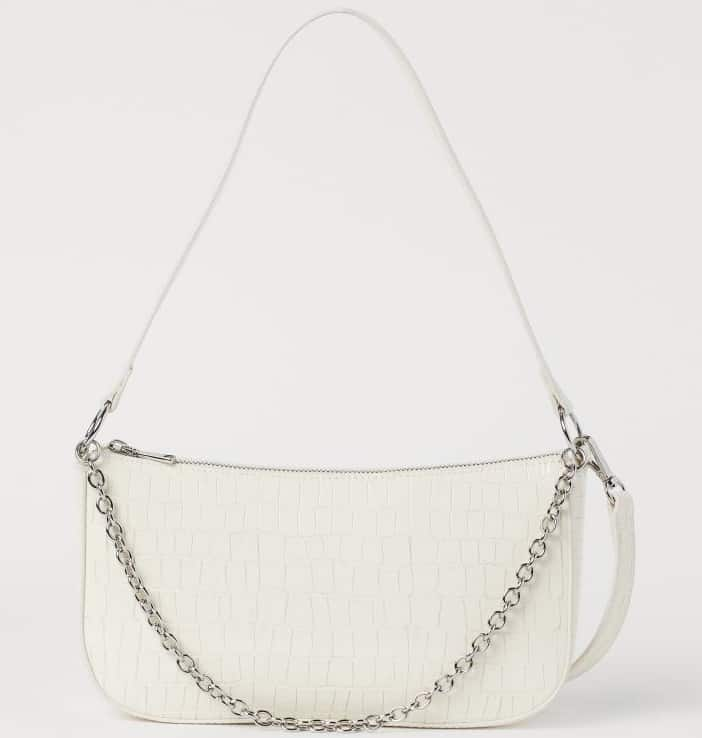 The white small hand bag from H and M.