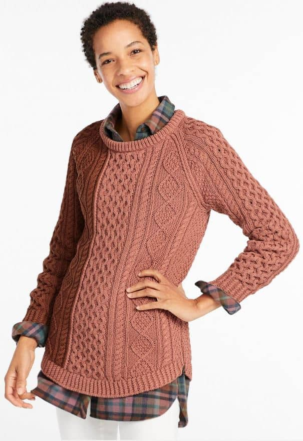 The Women's Signature Cotton Fisherman Tunic Sweater from LL Bean.