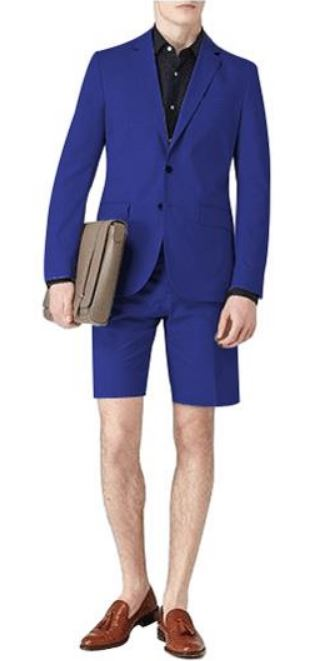 A blue navy suit with shorts from Men's USA.
