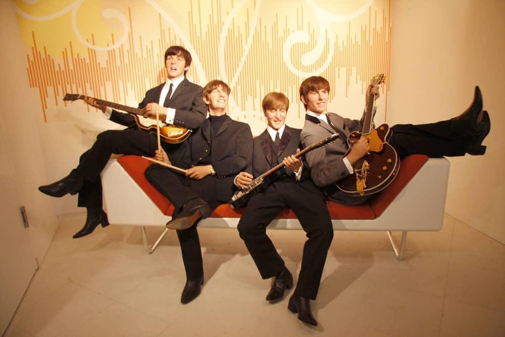 Wax figures of the Beatles in Berlin.