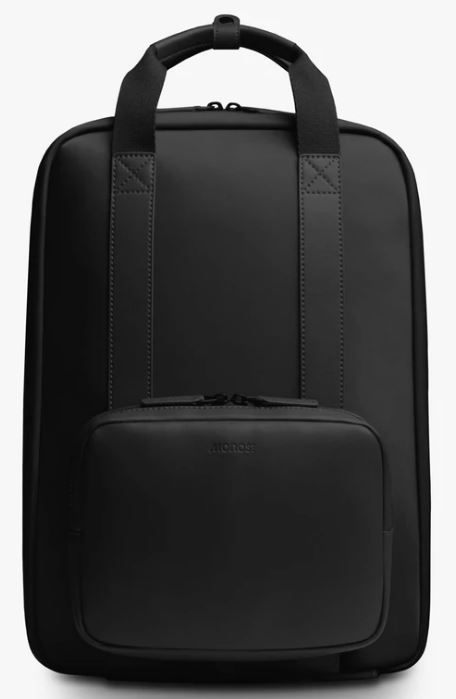 This is the Metro Backpack in black from Monos.