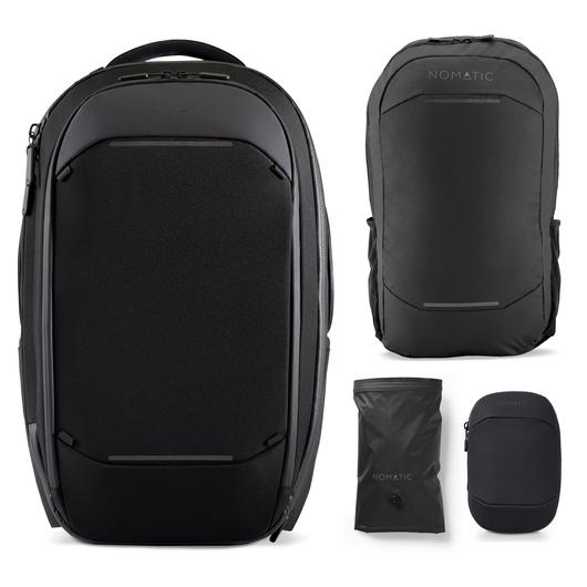This is the Navigator Travel backpack Bundle from Nomatic.