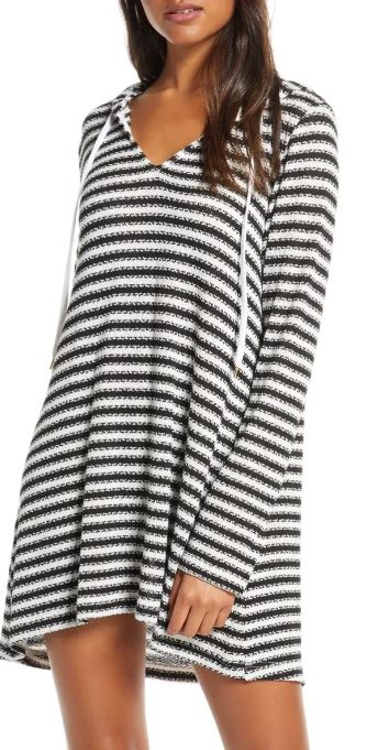 The la Blanca Slouchy Hooded Sweater Cover-Up Tunic from Nordstrom.