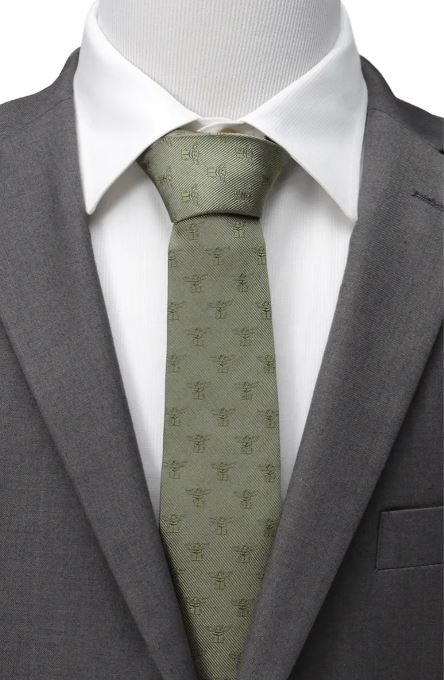 The Star Wars™ The Mandalorian The Child Silk Tie from Nordstrom.