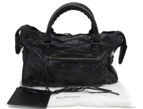 This is the authentic Balenciaga Giant City Shoulder Hand Bag from Poshmark.