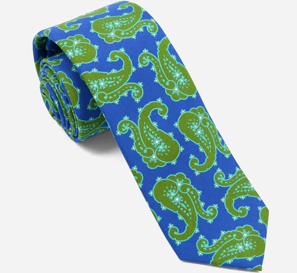 The Wild Paisley Olive Green tie from The Tie Bar.