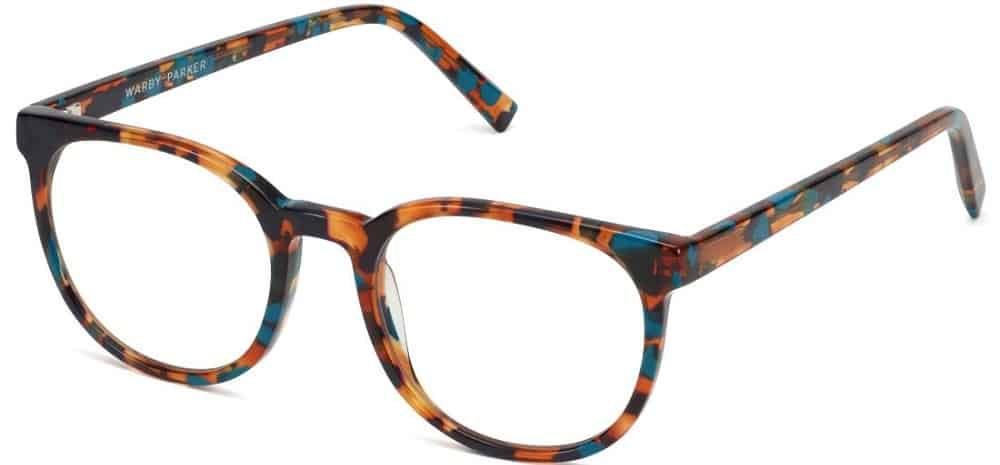 The Gillian Teal Tortoise Glasses from Warby Parker.