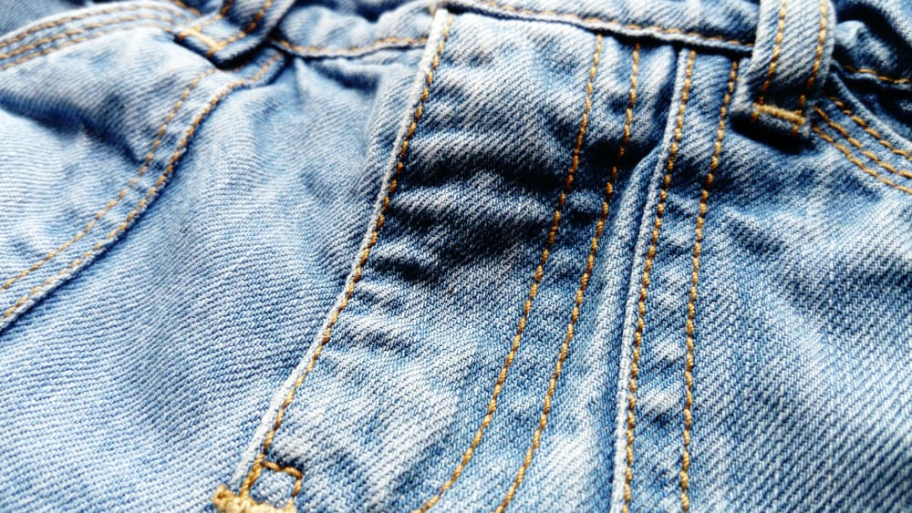 This is a close look at rough twill weave shorts.