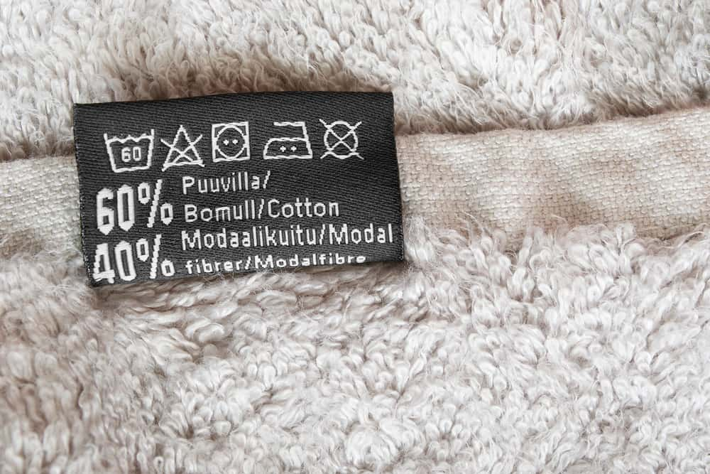 This is a close look at the tag with car instructions.