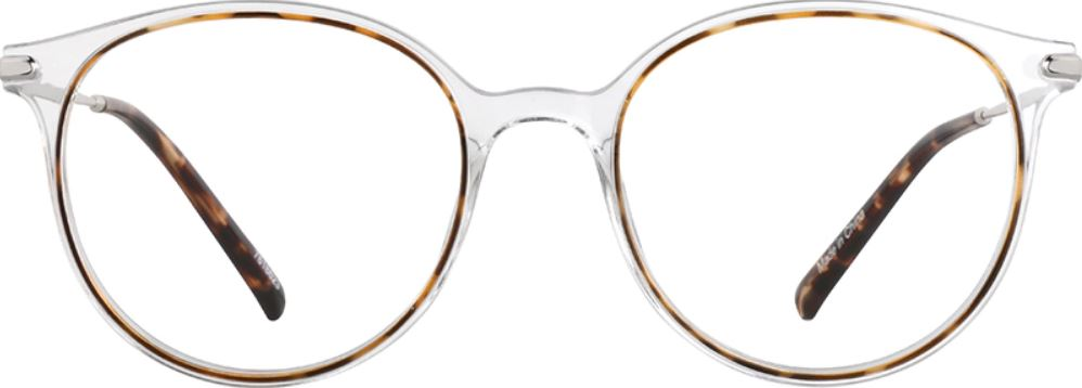 The colorless round eye glass frame from Zenni Optical.