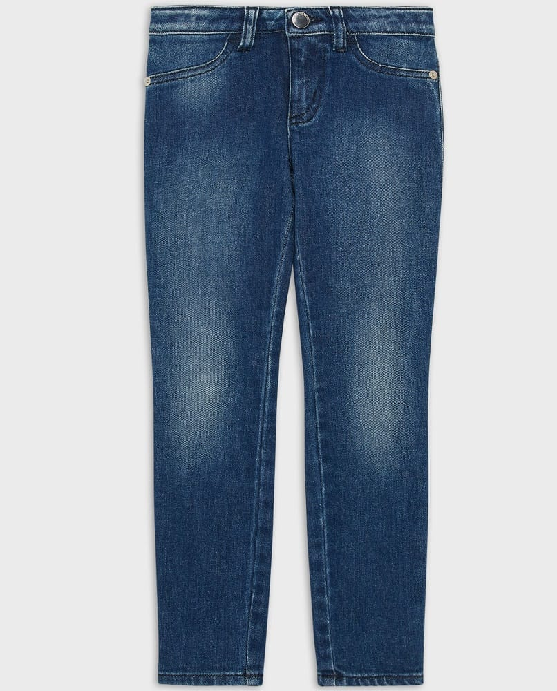 The J32 Jeans in stonewashed denim from Armani.