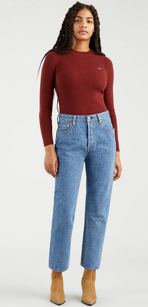 The 501 original blue jeans for women from Levi's.