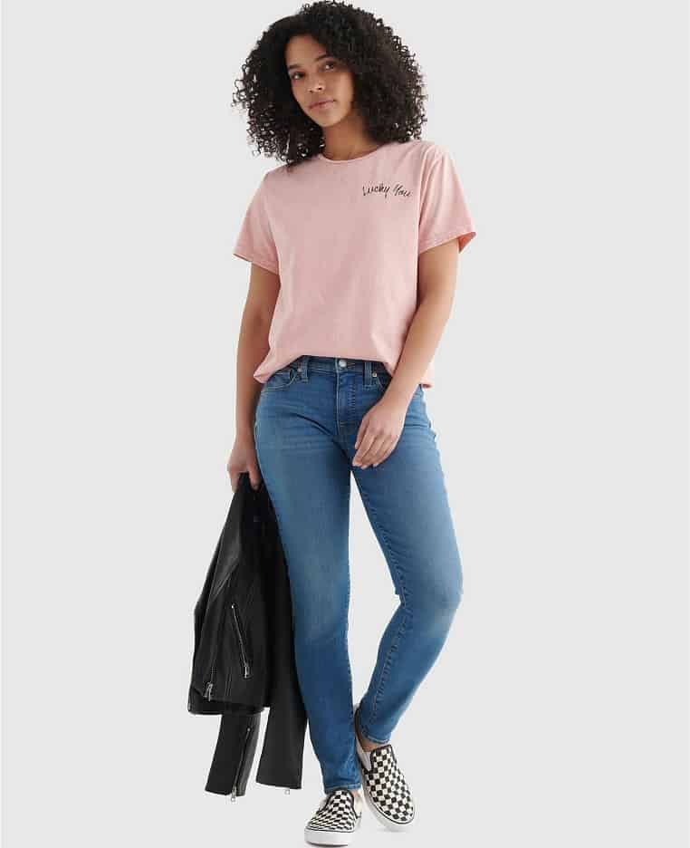 The Mid Rise Ava Skinny Jeans from Lucky Brand.