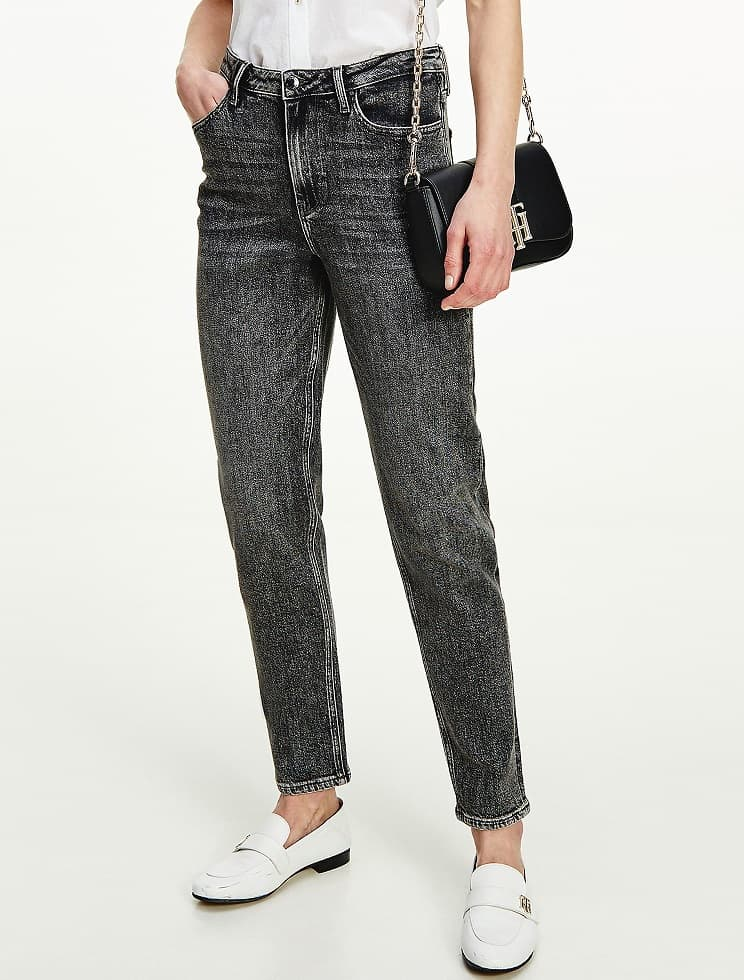 The High Rise Slim Fit Black Wash Jean from Tommy Hilfiger.