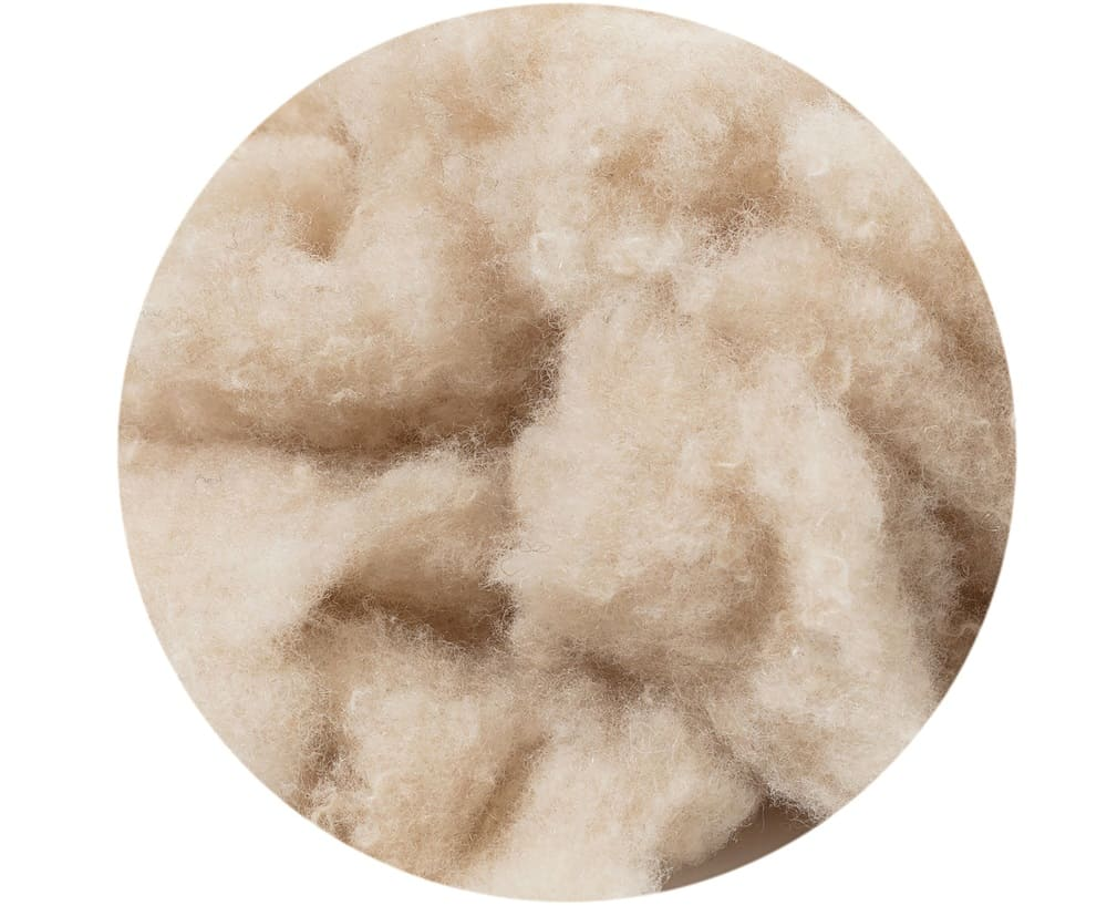 This is a close look at a bunch of raw cashmere wool.