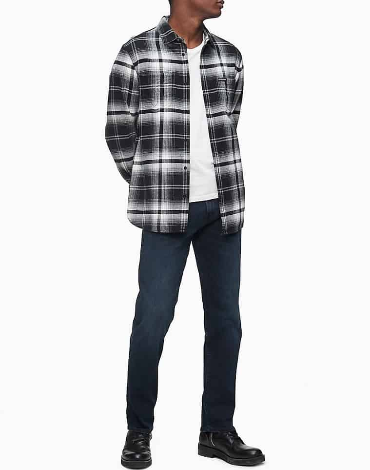 The Straight Fit Boston Blue Jeans from Calvin Klein.