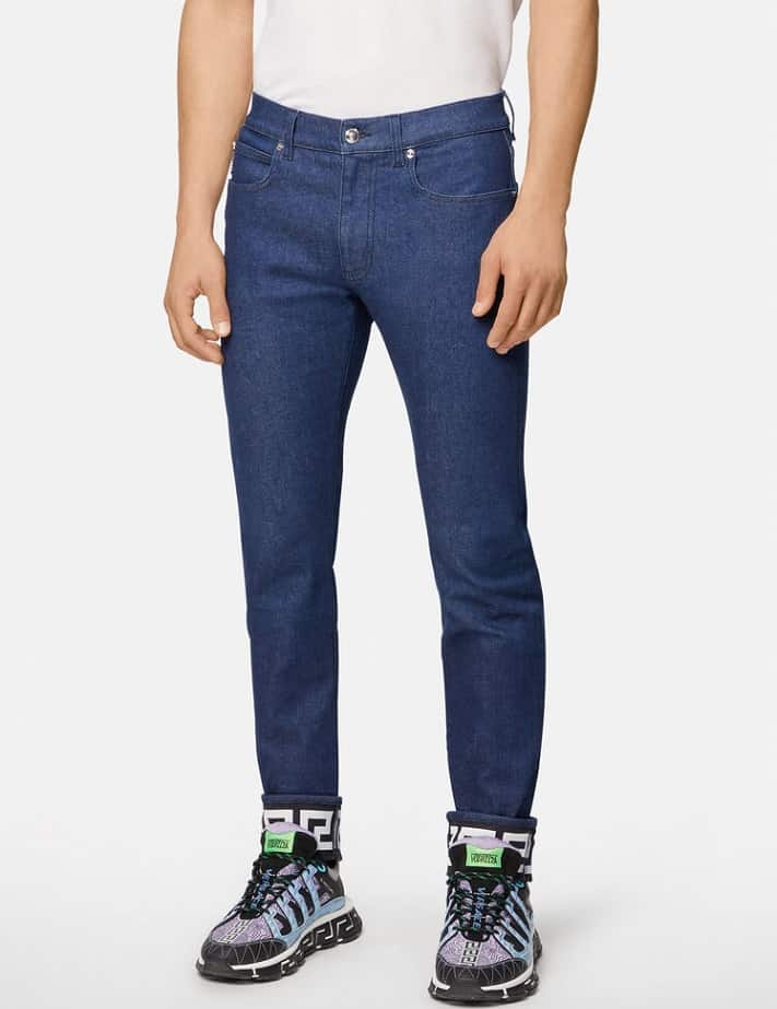 The Greca Slim Fit Jeans from Versace.