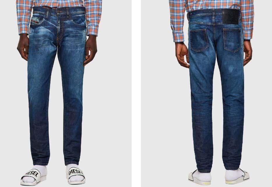 The D-Strukt 09A13 Slim fit medium blue jeans from Diesel.