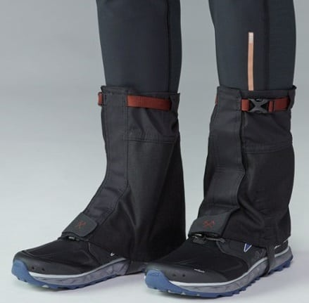 This is the REI Co-op Backpacker Low Gaiters.