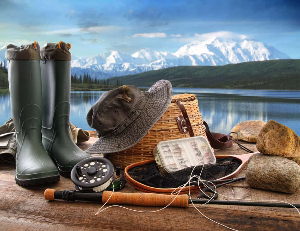 This is a close look at various fishing gear.