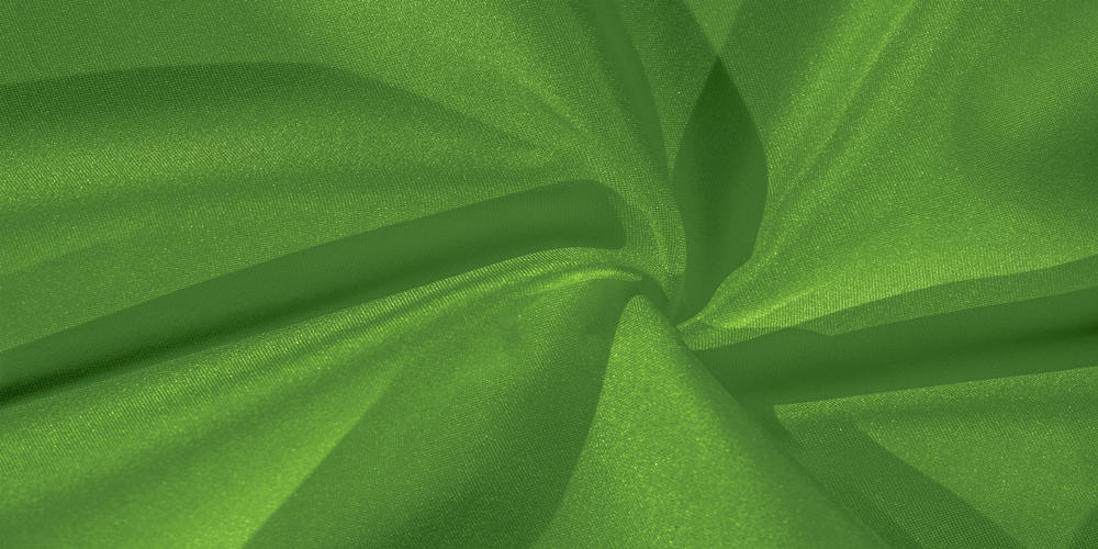 This is a close look at a piece of green crepe silk.