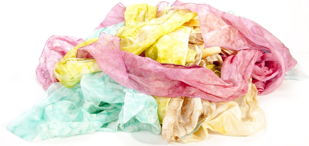 These are pieces of habotai silk scarves.