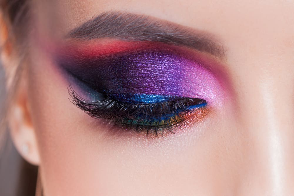 Eye makeup in luxurious blue shades.