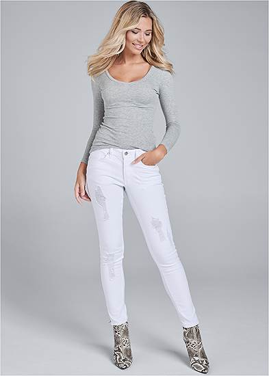 The Skinny White Jeans from Venus.