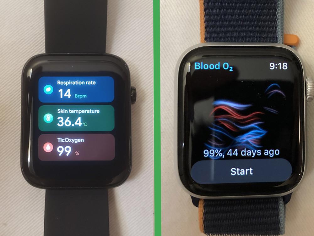ticwatch gth vs apple watch series 6 cool metrics